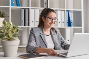 Young woman providing managed IT services in Sydney